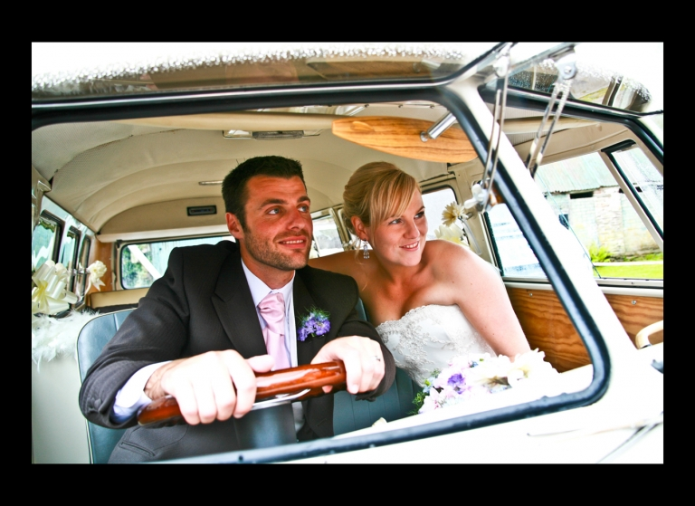 Couple Wedding in VW camper