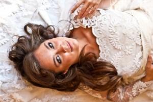 Dress bride reclining